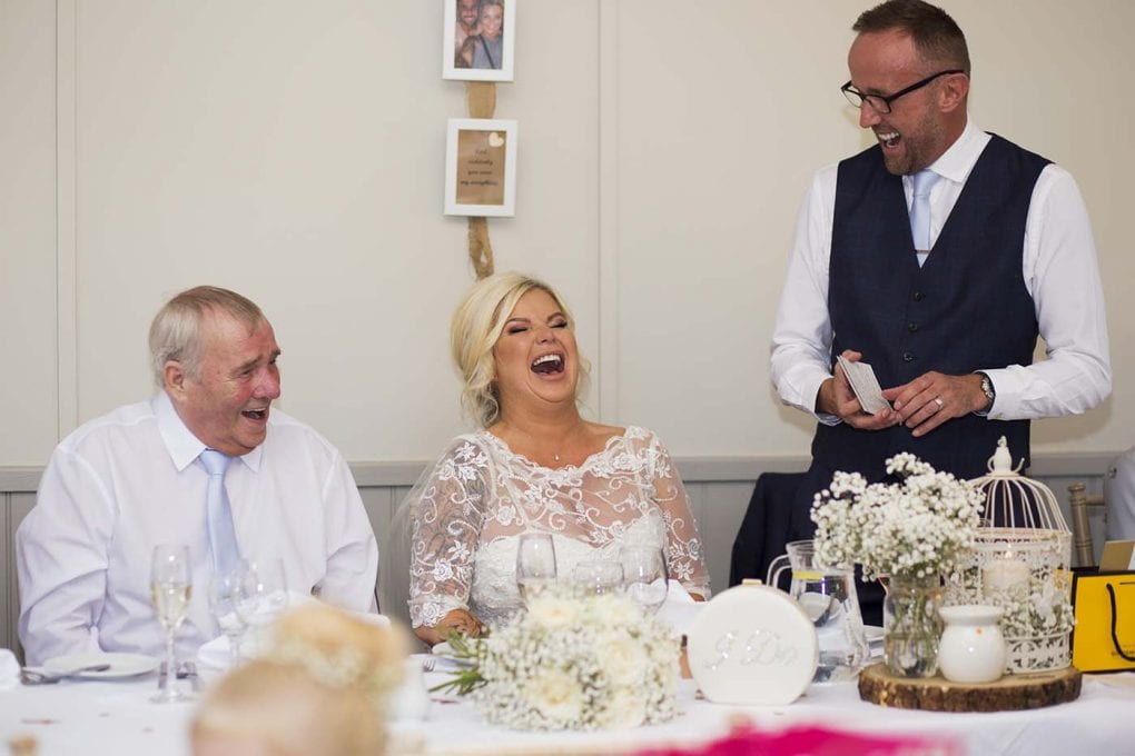 laughter at the speeches